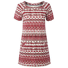 Buy White Stuff Woodblock Tunic, Coral Red Online at johnlewis.com