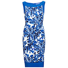 Buy Gina Bacconi Scuba Print Dress With Plain Bands, Blue Online at johnlewis.com