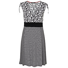 Buy Betty Barclay Print Wrap Effect Dress, Black / White Online at johnlewis.com
