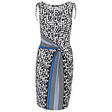 Buy Betty Barclay Graphic Print Knot Effect Dress, Dark Blue / White Online at johnlewis.com