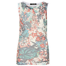 Buy Betty Barclay Sleeveless Print Top, Dark Blue / Red Online at johnlewis.com