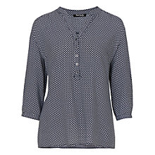 Buy Betty Barclay Three Quarter Sleeve Print Blouse, Dark Blue Online at johnlewis.com