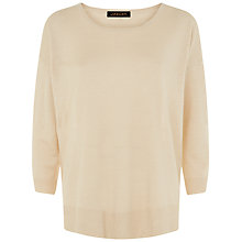 Buy Jaeger Linen Slouchy Jumper, Cuban Sand Online at johnlewis.com