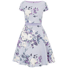 Buy Ariella Melody Box Top Printed Dress, Lavender Online at johnlewis.com