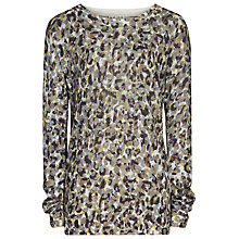 Buy Reiss Jana Printed Jumper, Mercury Online at johnlewis.com