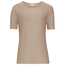 Buy Reiss Stitch Detail Jumper, Mink Online at johnlewis.com