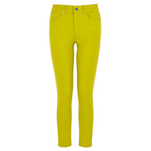 Buy Karen Millen Coated Cropped Skinny Jeans, Lime Online at johnlewis.com