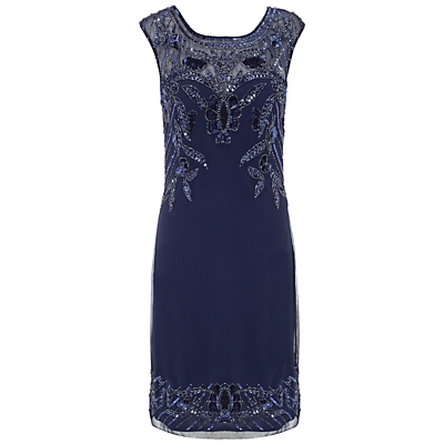 Ariella Betsy Short Sequin Dress Navy £199.00 AT vintagedancer.com