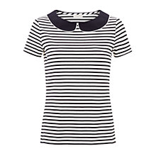 Buy Hobbs Avril Top, Ivory/Navy Online at johnlewis.com