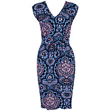 Buy Closet Retro V-Neck Pencil Dress, Navy Online at johnlewis.com