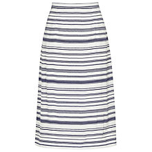 Buy Reiss Striped Straight Skirt, Blue/White Online at johnlewis.com