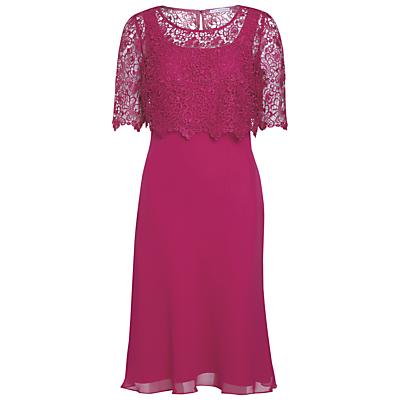 Gina Bacconi Guipure Lace Chiffon Dress
