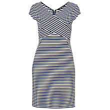 Buy Betty Barclay Striped Panelled Dress, Dark Blue/White Online at johnlewis.com