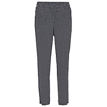 Buy Betty Barclay Waist Tie Printed Trousers, Dark Blue/White Online at johnlewis.com