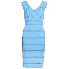 Buy Gina Bacconi Moss Crepe Net Dress, Fondant Blue Online at johnlewis.com
