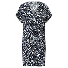 Buy Jigsaw Abstract Mirror Day Dress, Navy Online at johnlewis.com