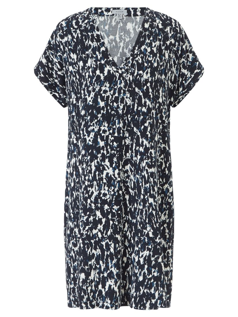 jigsaw abstract mirror day dress navy, jigsaw, abstract, mirror, day, dress, navy, 8|12|16|14|10, women, womens dresses, brands a-k, jigsaw clothing & accessories, jigsaw womenswear, 1917366