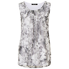 Buy Betty Barclay Pleat Detail Smock Top, Grey Online at johnlewis.com