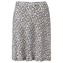 Buy Jigsaw Morning Dew Flippy Skirt, Navy Online at johnlewis.com