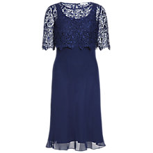 Buy Gina Bacconi Guipure Lace Chiffon Dress Online at johnlewis.com