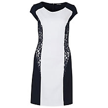 Buy Betty Barclay Panelled Dress, Night Sky/White Online at johnlewis.com