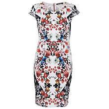 Buy Betty Barclay Floral Print Dress, Red / White Online at johnlewis.com