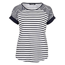 Buy Betty Barclay Stud Striped T-Shirt, White / Dark Blue Online at johnlewis.com