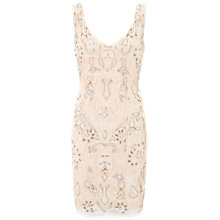 Buy Ariella Lois Beaded Cocktail Dress, Dusky Pink Online at johnlewis.com