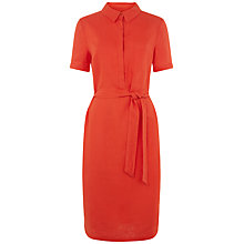 Buy Jaeger Linen Shirt Dress, Paprika Online at johnlewis.com