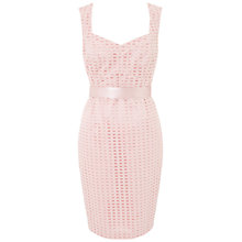 Buy Ariella Jilly Textured Sweetheart Dress, Dusty Pink Online at johnlewis.com