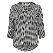 Buy Betty Barclay Blouse, Black / White Online at johnlewis.com