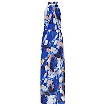 Buy Reiss Cecille Printed Maxi Dress, Serpentine Online at johnlewis.com
