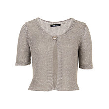 Buy Betty Barclay One Button Cardigan, Warm Grey Online at johnlewis.com