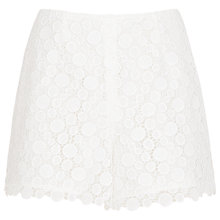 Buy Reiss Lace Shorts, White Online at johnlewis.com