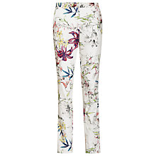 Buy Reiss Printed Slim Fit Trousers, Sugar/Multi Online at johnlewis.com