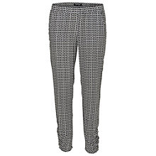 Buy Betty Barclay Geometric Print Trousers, White/Black Online at johnlewis.com