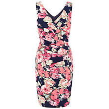 Buy Ariella Sally Printed Pencil Dress, Navy/Coral Online at johnlewis.com