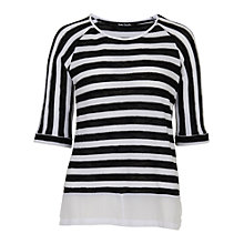 Buy Betty Barclay Stripe Top, Black / White Online at johnlewis.com