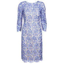 Buy Gina Bacconi Lace Shift Dress, Violet Online at johnlewis.com