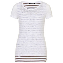 Buy Betty Barclay Layered Rhinestone T-Shirt, White/Grey Online at johnlewis.com