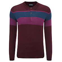 Buy John Smedley Pelton Merino Polo Shirt, Port/Hollyhock Purple Online at johnlewis.com