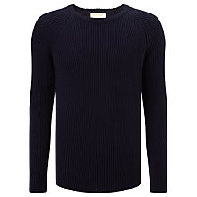 Buy John Smedley Treak Imperial Kashmir Crew Neck Jumper, Midnight Online at johnlewis.com
