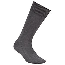 Buy John Smedley Delta Socks, Charcoal Online at johnlewis.com