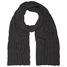 Buy John Smedley Chunky Knit Scarf, Charcoal Online at johnlewis.com