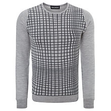 Buy John Smedley Lag Merino Patterned Jumper, Silver/Charcoal Online at johnlewis.com