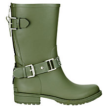 Buy Jigsaw Short Biker Wellington Boots Online at johnlewis.com