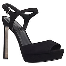 Buy KG by Kurt Geiger Hazel High Platform Leather Sandals, Black Online at johnlewis.com