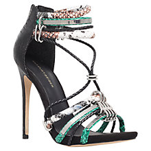 Buy KG by Kurt Geiger Native Leather Stiletto Heeled Sandals Online at johnlewis.com