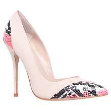 Buy Carvela Aztec Asymmetric High Heeled Court Shoe, Nude Online at johnlewis.com