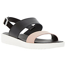 Buy Dune Loren Double Strap Sandals, Nude Leather Online at johnlewis.com